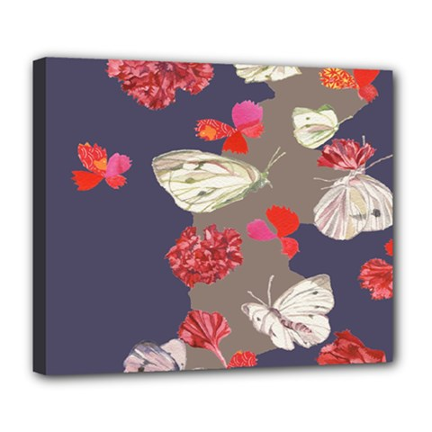 Original Butterfly Carnation Deluxe Canvas 24  X 20   by Mariart