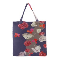 Original Butterfly Carnation Grocery Tote Bag by Mariart
