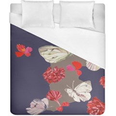 Original Butterfly Carnation Duvet Cover (california King Size) by Mariart