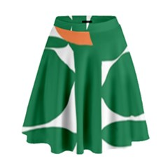 Portraits Plants Sunflower Green Orange Flower High Waist Skirt by Mariart