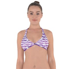 Original Feather Opaque Color Purple Halter Neck Bikini Top