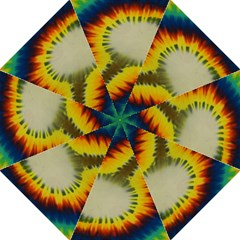 Red Blue Yellow Green Medium Rainbow Tie Dye Kaleidoscope Opaque Color Folding Umbrellas by Mariart