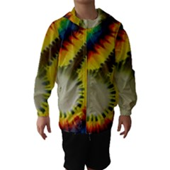 Red Blue Yellow Green Medium Rainbow Tie Dye Kaleidoscope Opaque Color Hooded Wind Breaker (kids) by Mariart