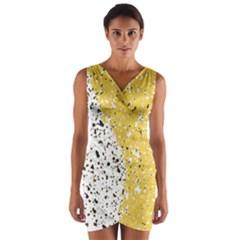 Spot Polka Dots Orange Black Wrap Front Bodycon Dress by Mariart