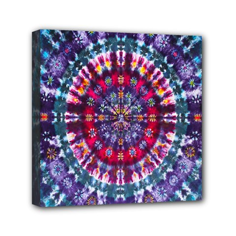 Red Purple Tie Dye Kaleidoscope Opaque Color Mini Canvas 6  X 6  by Mariart