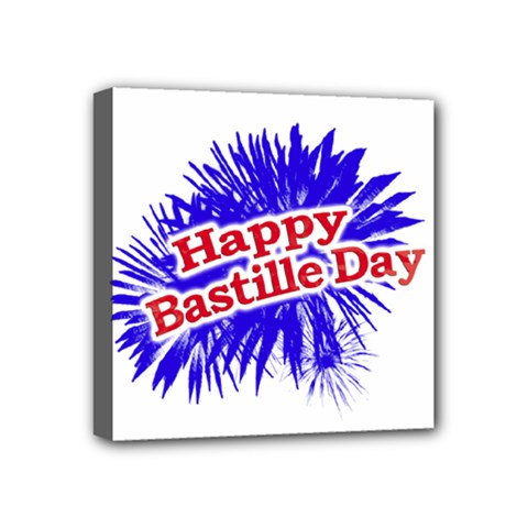 Happy Bastille Day Graphic Logo Mini Canvas 4  X 4  by dflcprints