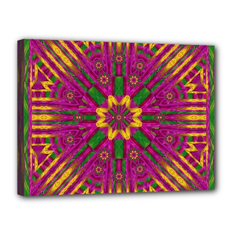Feather Stars Mandala Pop Art Canvas 16  X 12  by pepitasart