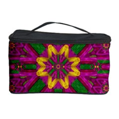 Feather Stars Mandala Pop Art Cosmetic Storage Case by pepitasart
