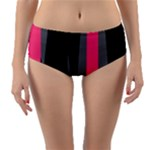 Hot Paint Reversible Mid-Waist Bikini Bottoms
