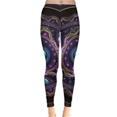 Beautiful Turquoise and Amethyst Fractal Jewelry Leggings