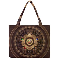 Gathering The Five Fractal Colors Of Magic Mini Tote Bag by jayaprime
