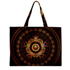 Gathering The Five Fractal Colors Of Magic Zipper Mini Tote Bag by jayaprime