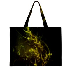 Beautiful Emerald Fairy Ferns In A Fractal Forest Zipper Mini Tote Bag by jayaprime