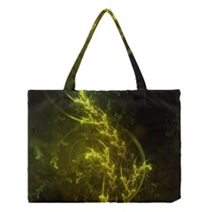 Beautiful Emerald Fairy Ferns In A Fractal Forest Medium Tote Bag by jayaprime