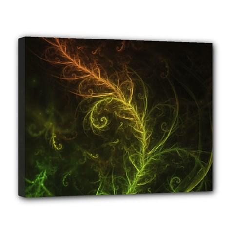 Fractal Hybrid Of Guzmania Tuti Fruitti And Ferns Canvas 14  X 11  by beautifulfractals