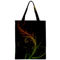 Fractal Hybrid Of Guzmania Tuti Fruitti And Ferns Zipper Classic Tote Bag by beautifulfractals