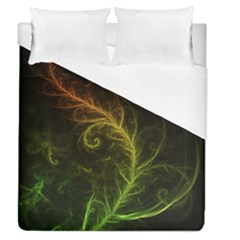 Fractal Hybrid Of Guzmania Tuti Fruitti And Ferns Duvet Cover (queen Size) by jayaprime
