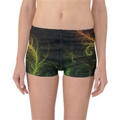Fractal Hybrid Of Guzmania Tuti Fruitti And Ferns Reversible Boyleg Bikini Bottoms by jayaprime