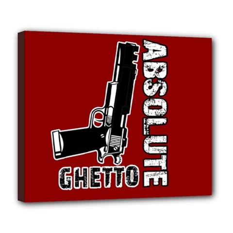 Absolute Ghetto Deluxe Canvas 24  X 20   by Valentinaart