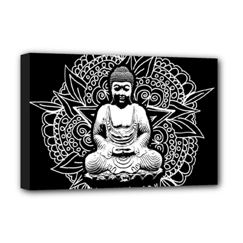 Ornate Buddha Deluxe Canvas 18  X 12   by Valentinaart