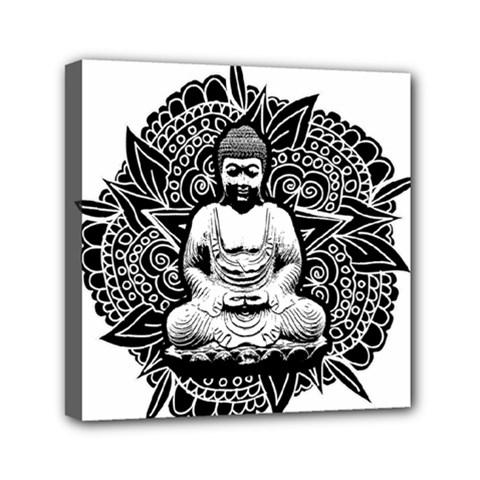Ornate Buddha Mini Canvas 6  X 6  by Valentinaart
