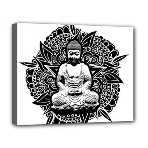 Ornate Buddha Deluxe Canvas 20  X 16   by Valentinaart