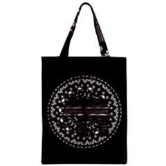 Ornate Mandala Elephant  Zipper Classic Tote Bag by Valentinaart