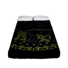 Ornate Mandala Elephant  Fitted Sheet (full/ Double Size) by Valentinaart