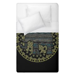 Ornate Mandala Elephant  Duvet Cover (single Size) by Valentinaart