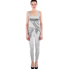 Beautiful Dolphin, Mandala Design Onepiece Catsuit by FantasyWorld7