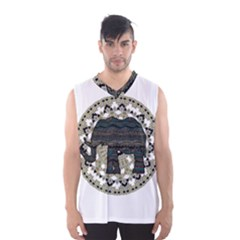 Ornate Mandala Elephant  Men s Basketball Tank Top