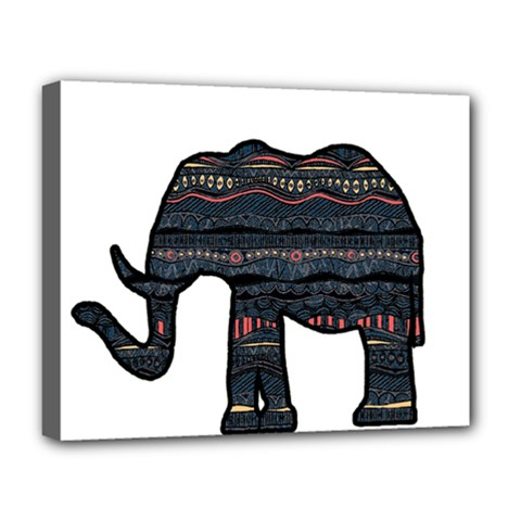 Ornate Mandala Elephant  Deluxe Canvas 20  X 16   by Valentinaart