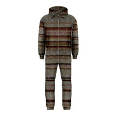Stripy Knitted Wool Fabric Texture Hooded Jumpsuit (kids) by BangZart