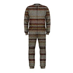 Stripy Knitted Wool Fabric Texture Onepiece Jumpsuit (kids) by BangZart