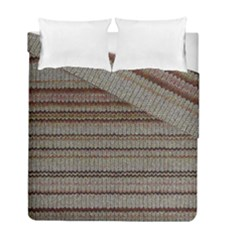 Stripy Knitted Wool Fabric Texture Duvet Cover Double Side (full/ Double Size) by BangZart