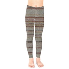 Stripy Knitted Wool Fabric Texture Kids  Leggings