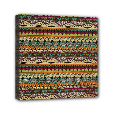 Aztec Pattern Mini Canvas 6  X 6  by BangZart