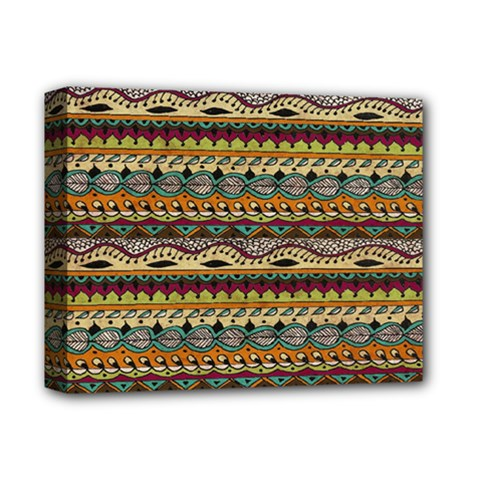 Aztec Pattern Deluxe Canvas 14  X 11  by BangZart