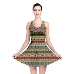 Aztec Pattern Reversible Skater Dress