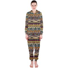 Aztec Pattern Hooded Jumpsuit (ladies)