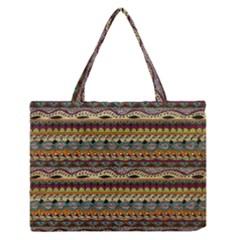 Aztec Pattern Medium Zipper Tote Bag
