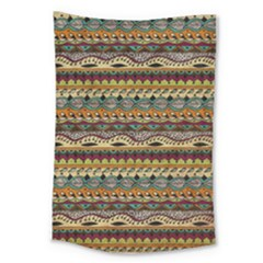 Aztec Pattern Large Tapestry