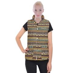 Aztec Pattern Women s Button Up Puffer Vest