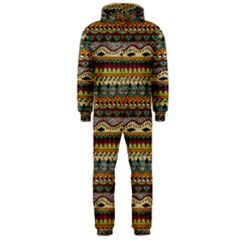 Aztec Pattern Hooded Jumpsuit (men)  by BangZart