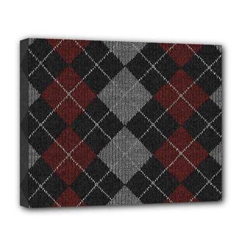 Wool Texture With Great Pattern Deluxe Canvas 20  X 16