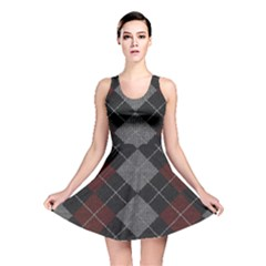 Wool Texture With Great Pattern Reversible Skater Dress by BangZart