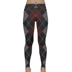 Wool Texture With Great Pattern Classic Yoga Leggings