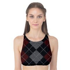 Wool Texture With Great Pattern Tank Bikini Top