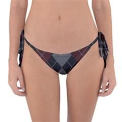 Wool Texture With Great Pattern Reversible Bikini Bottom