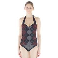 Wool Texture With Great Pattern Halter Swimsuit